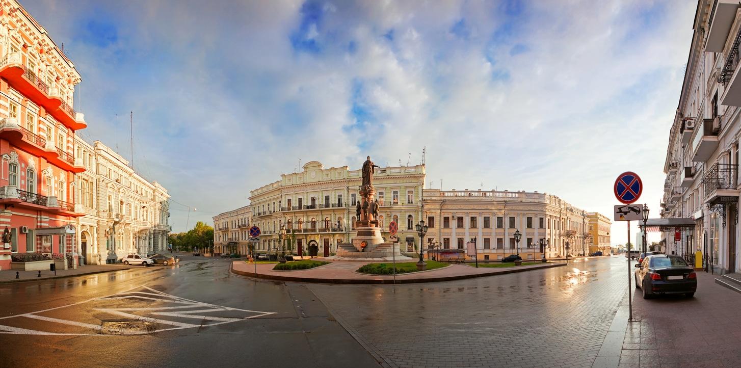 Ekaterininskaya Square in Odessa